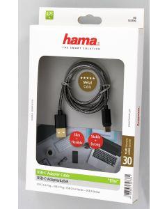 Hama USB Type-C Metal Cable 0.75M